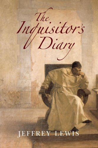 Cover for The Inquisitor's Diary, by Jeffrey Lewis, featuring a pensive, seated Spanish priest.